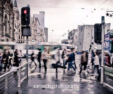 Melbourne in the rain...
