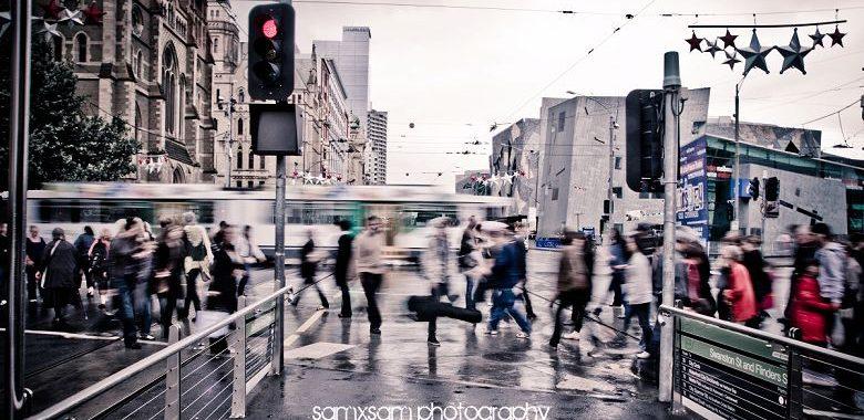 Melbourne in the rain...