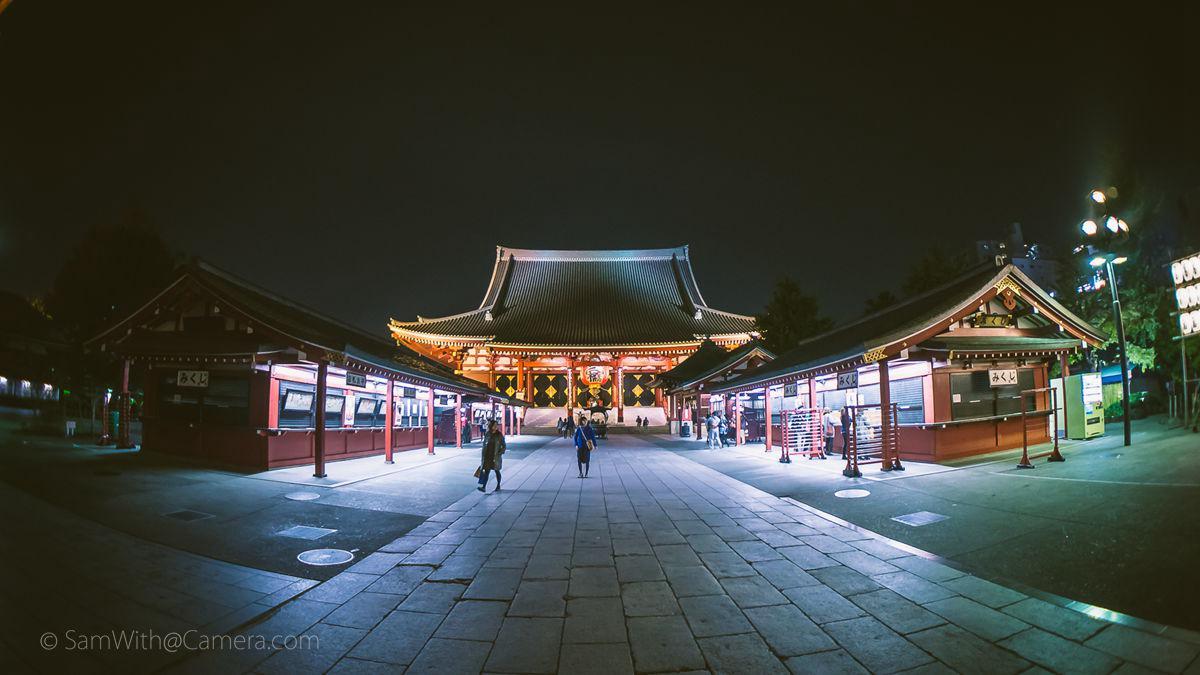 Japan 2013 .004 - 鱼眼夜拍浅草寺