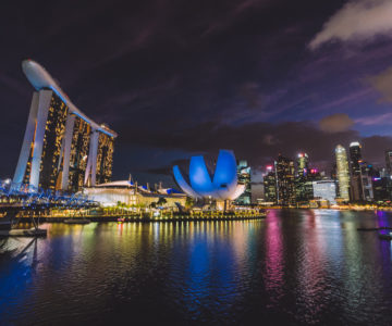 2020 Singapore Tirp Day 1 -  Helix Bridge